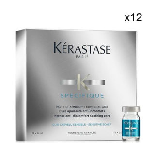 Cure Apaisante anti-inconforts Specifique de Kerastase - 12 flaconnettes